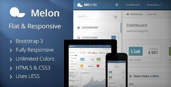 دانلود قالب HTML مدیریت Melon