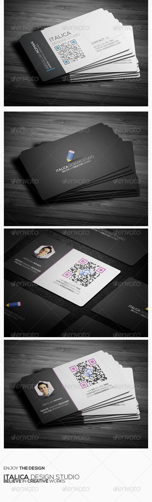دانلود مجموعه طرح لایه باز کارت ویزیت 6680579