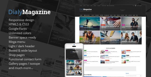دانلود قالب HTML سایت DialyMagazine