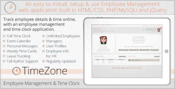 دانلود اسکریپت PHP مدیریت کارکنان TimeZone Employee Management