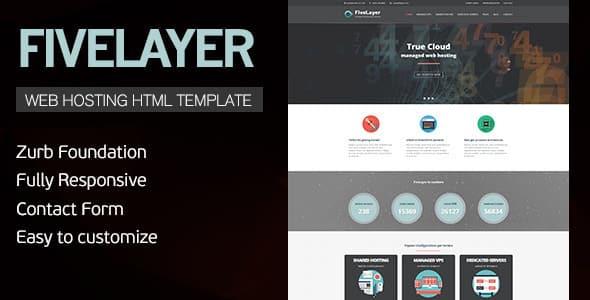 دانلود قالب HTML سایت FiveLayer