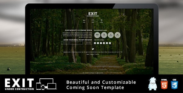 دانلود قالب HTML در دست طراحی Exit