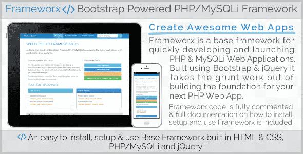 دانلود اسکریپت Frameworx - Bootstrap Powered PHP MySQLi Framework