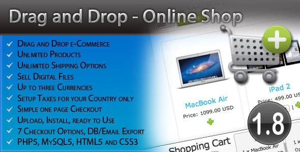 دانلود اسکریپت PHP فروشگاه ساز Drag and Drop Online Shop