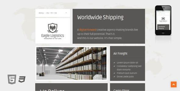 دانلود قالب HTML سایت Eagle Logistics