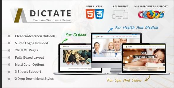 دانلود قالب HTML چندمنظوره Dictate