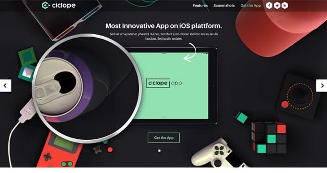 دانلود قالب فتوشاپ سایت Ciclope App