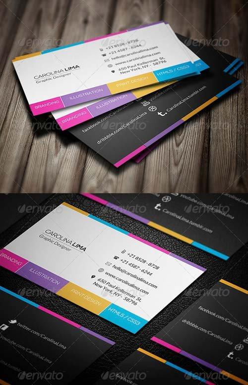 دانلود طرح لایه باز کارت ویزیت 6047145