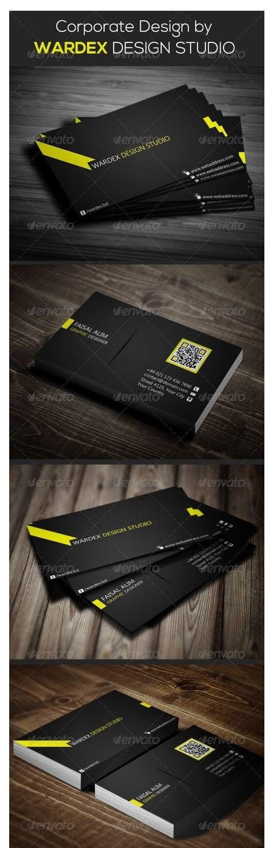 دانلود طرح لایه باز کارت ویزیت 6680901