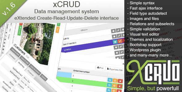 دانلود اسکریپت PHP مدیریت اطلاعات xCRUD - Data Management System
