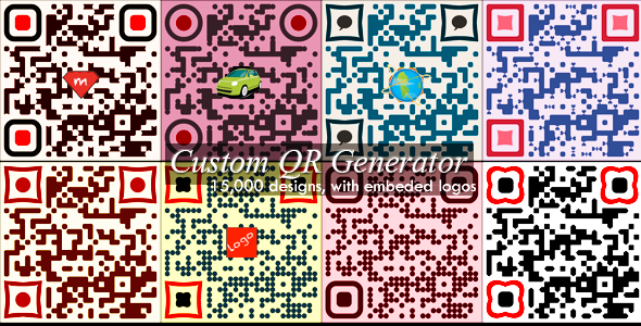 دانلود اسکریپت PHP ساخت کیوآر کد Advanced Custom QR Code Generator