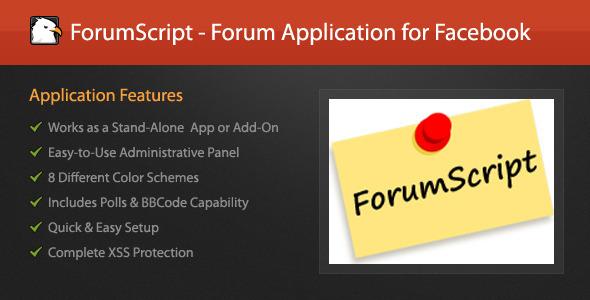 دانلود اسکریپت PHP انجمن ForumScript - Forum Application for Facebook