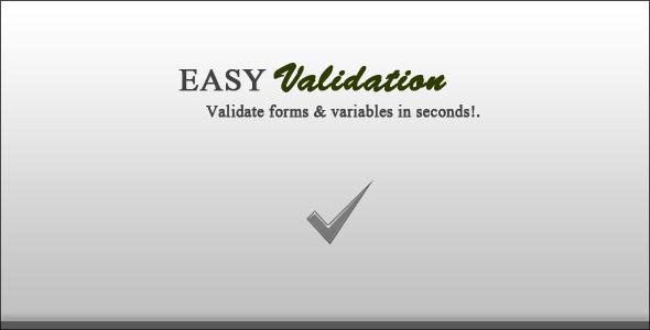دانلود اسکریپت PHP اعتبارسنجی فرم EasyValidation
