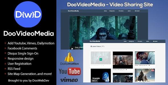دانلود اسکریپت PHP سایت اشتراک گذاری مالتی مدیا DooVideoMedia