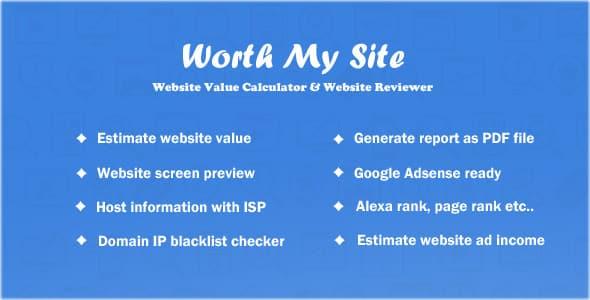 دانلود اسکریپت PHP تخمین ارزش سایت Worth My Site
