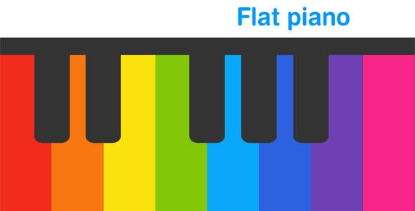 دانلود سورس بازی Flat Piano Basic - HTML5 Game