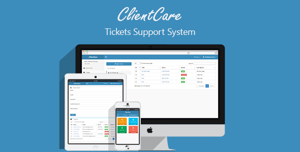 دانلود اسکریپت PHP تیکتینک پشتیبانی مشتریان ClientCare