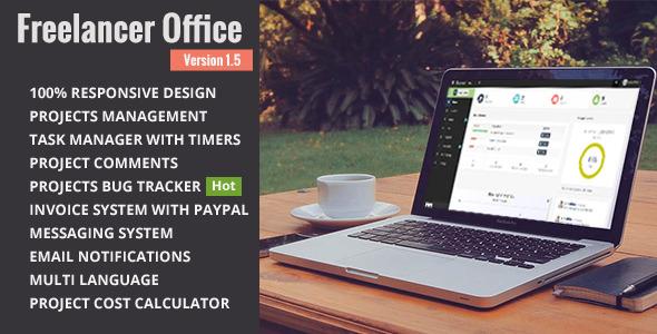 دانلود اسکریپت PHP مدیریت پروژه برای فری لنسرها Freelancer Office