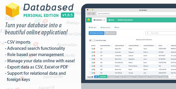 دانلود اسکریپت PHP مدیریت دیتابیس Databased - Personal Edition
