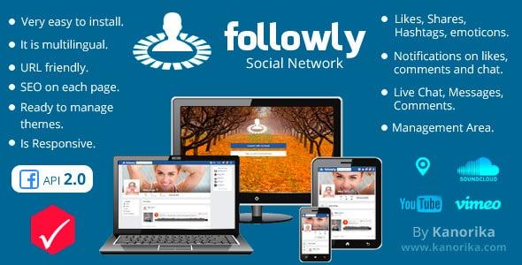 دانلود اسکریپت PHP شبکه اجتماعی Followly