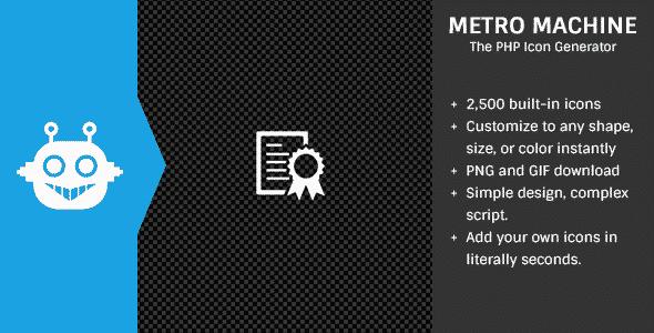 دانلود اسکریپت PHP آیکون ساز Metro Machine