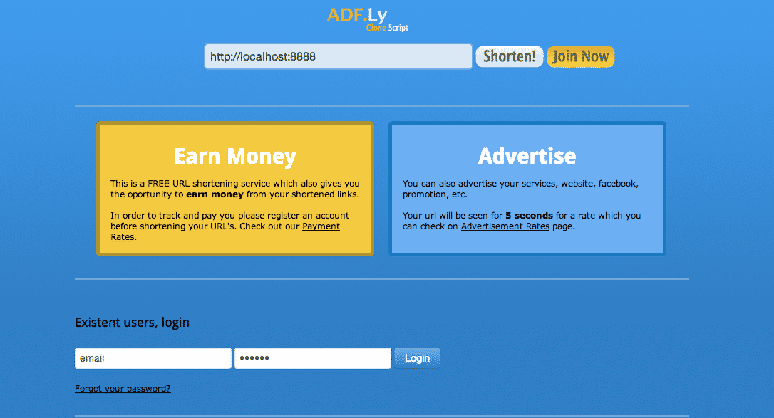 دانلود اسکریپت PHP ادفلای AdF Ly Clone Script