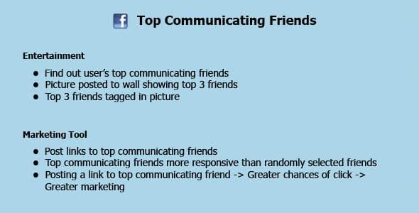 دانلود اسکریپت Facebook Top Communicating Friends