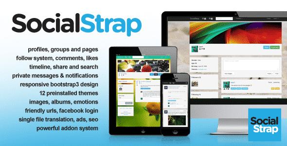 دانلود اسکریپت PHP شبکه اجتماعی SocialStrap
