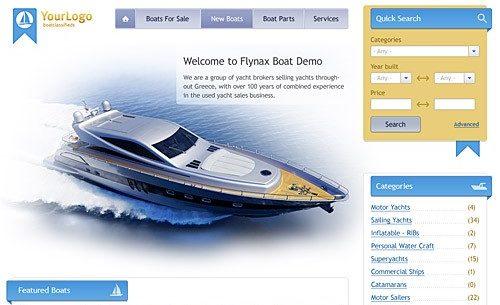 دانلود اسکریپت فروش قایق Flynax Boats