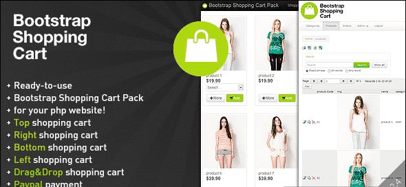 دانلود اسکریپت PHP سبد خرید Bootstrap Shopping Cart Pack