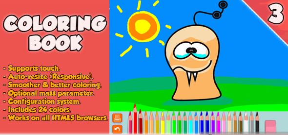 دانلود سورس بازی Coloring Book - HTML5 Game