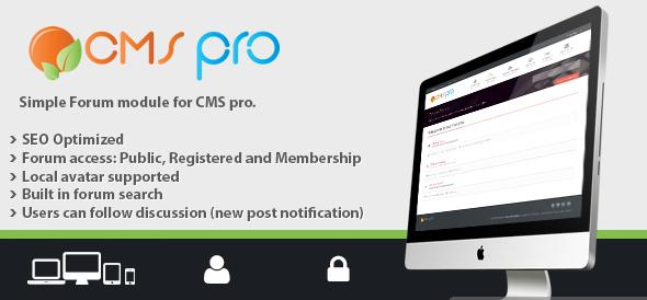 دانلود اسکریپت PHP انجمن ساز Simple Forum Module for CMS pro