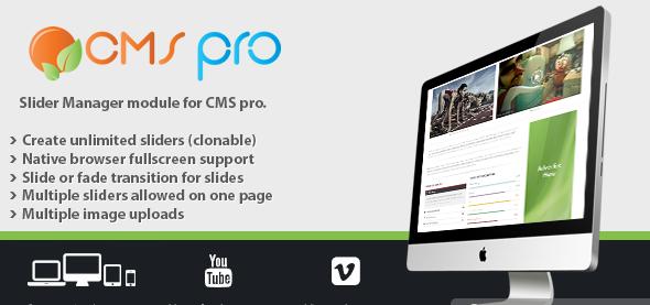دانلود اسکریپت PHP اسلایدر Slider Manager Module for CMS pro