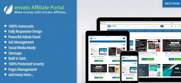 دانلود اسکریپت PHP خرید و فروش envato Affiliate Portal