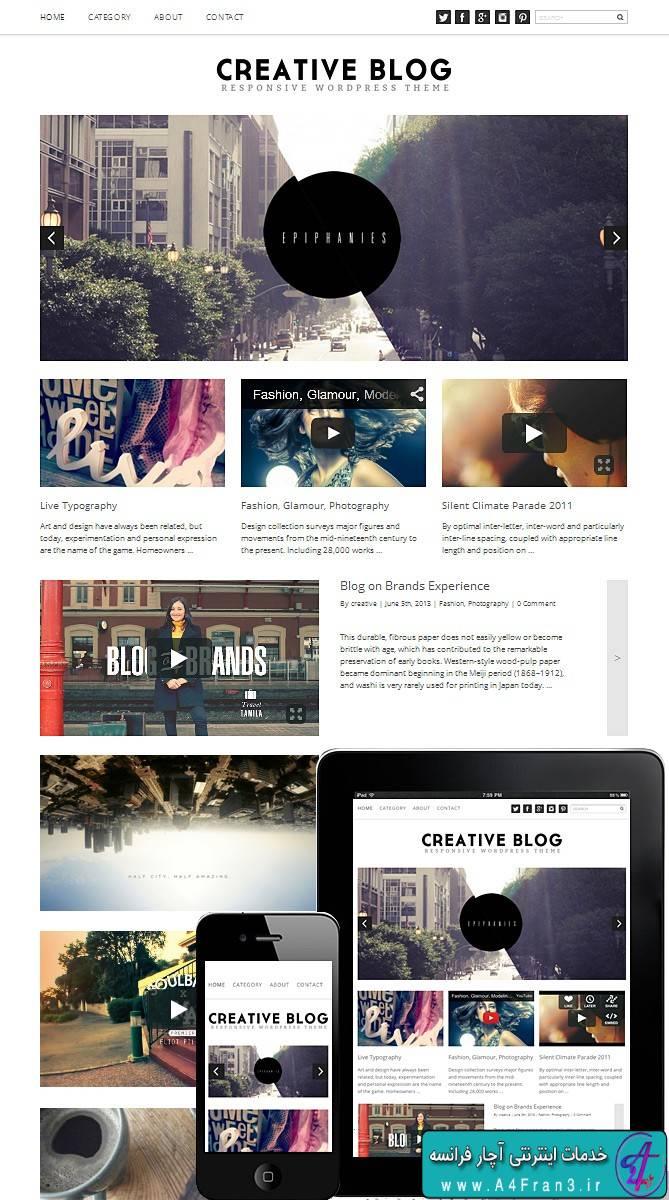 دانلود قالب وبلاگی وردپرس CREATIVE