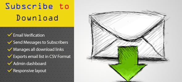دانلود اسکریپت PHP ثبت ایمیل برای دانلود فایل MC Subscribe to Download Script
