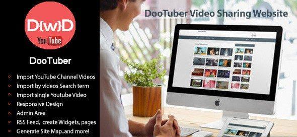 دانلود اسکریپت PHP سایت اشتراک ویدئو DooTuber Video Sharing Website