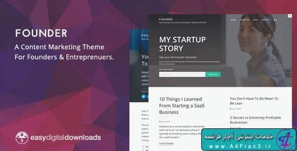 دانلود قالب وردپرس بازاریابی محتوا Founder