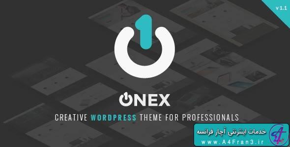 دانلود قالب شرکتی وردپرس OneX