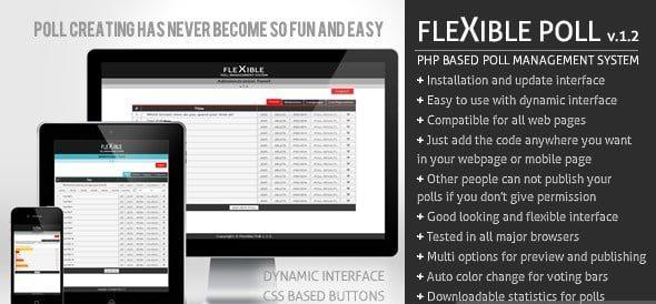 دانلود اسکریپت PHP نظرسنجی Flexible Poll