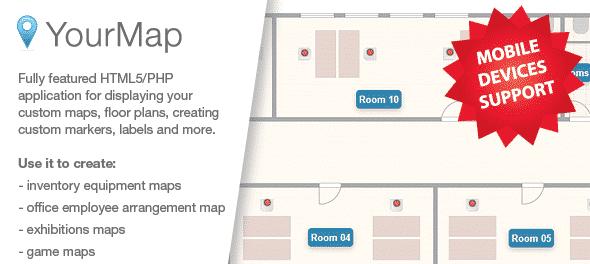 دانلود اسکریپت PHP ساخت نقشه YourMap - customizable maps with back-end panel
