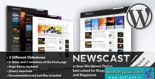 دانلود قالب خبری وردپرس Newscast 4 in 1
