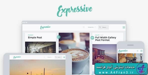 دانلود قالب وبلاگی وردپرس Expressivo