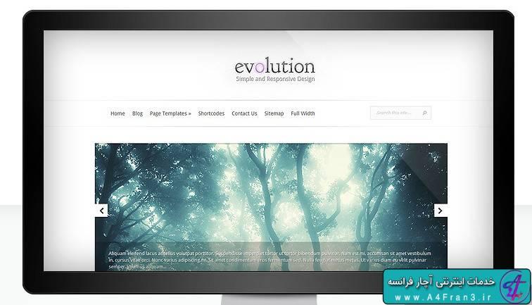 دانلود قالب وردپرس Evolution