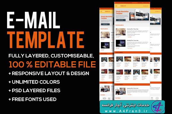 دانلود قالب فتوشاپ خبرنامه ایمیلی Business Email PSD Template