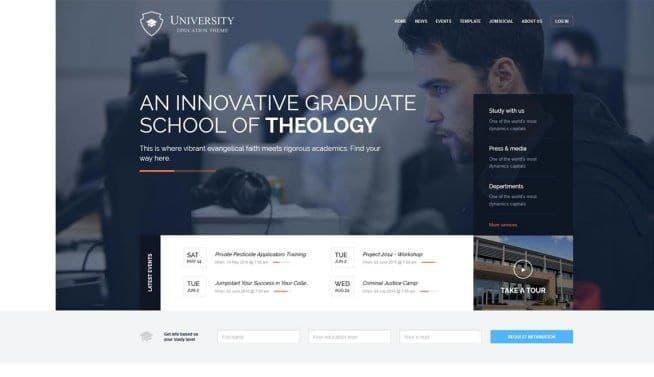 دانلود قالب آموزشی وردپرس University