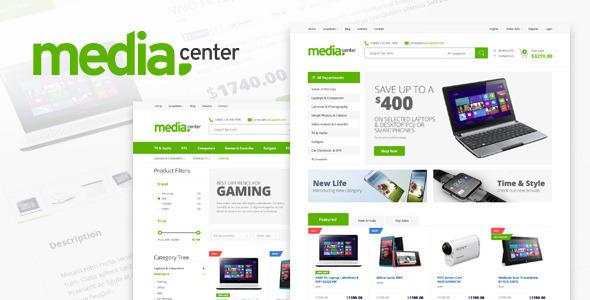 دانلود قالب HTML فروشگاهی محصولات الکترونیک Media Center