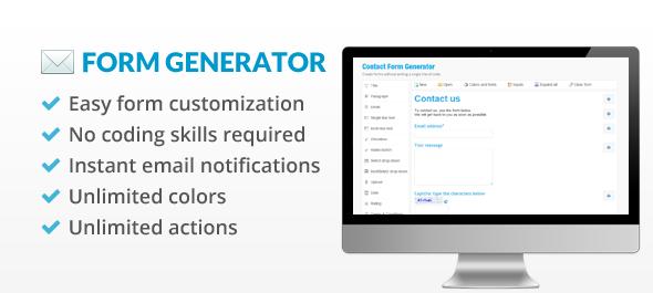 دانلود اسکریپت PHP فرم ساز Contact Form Generator