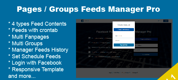 دانلود اسکریپت PHP مدیریت صفحات فیس بوک Facebook Pages Groups Posts Manager Pro