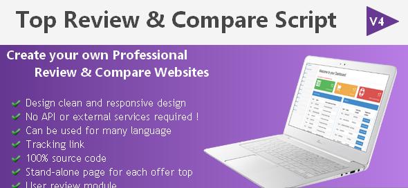 دانلود اسکریپت PHP بررسی و مقایسه Top Review & Comparison Script